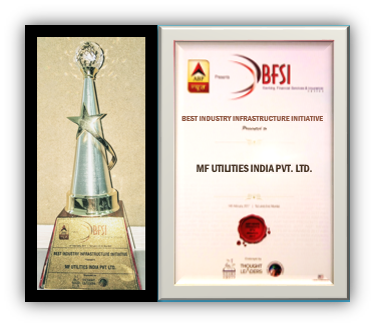 MFU confered with the Best Industry Infrastructure Initiative Award by ABP News BFSI Awards