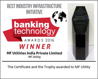 MFU confered with the Best Industry Infrastructure Initiative Award by Banking Technology Awards 2016