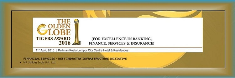 Awarded as the Best Industry Infrastructure Initiative in 2016